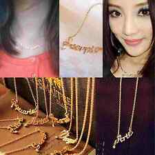 FREE SHIPPING 1Pcs Sweet Girls Womens Necklace Letter Constellation Pendant Gift