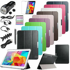 "For Samsung Galaxy Tab 4 10.1"" SM-T530 Folio Stand Leather Case Cover+Accessory"