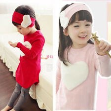 Spring Fall Kid Girl Children Wear Long Sleeve Suit Love Three-piece Suit Outfit