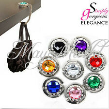 10 Colors Crystal Folding Purse Handbag Bag Hook Hanger Hold Holders Sales LW