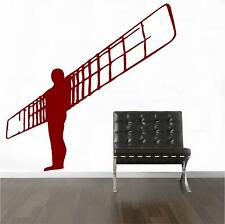 ANGEL OF THE NORTH WALL ART DECAL STICKER CHOOSE FROM 21 DIFFERENT  COLOURS