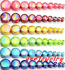 Pair 4-20mm Dot Acrylic Double Flared Ear Saddle Tunnel Plug Expander Stretcher