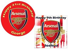 Arsenal Superior Icing Cake Topper round, square, rectangle or cupcakes