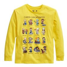 Minecraft Career Opportunities yellow Youth Long Sleeves New T-Shirt Tee S-XL