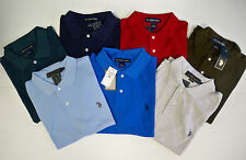 Mens US Polo Assn T-shirt-Polo Top - Red /Blue /Grey /Navy /Brown size L - new