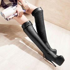 Fashion new womens boots Knee high Boots Ladies Stiletto Slim Platforms cheap