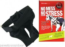 Dog hygiene pants Mikki bitch on heat or in season elasticated waist all sizes