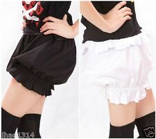 NEW Gothic,Lolita Cosplay Shorts, Bloomers,Pantalooms,Knickers Black/White Pants