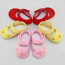 1Pair Cute Sweet Candy Color Direct Embroidered Shoes Fashion Kids Baby Shoes