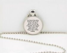 "Tinkerbell Peter Pan ""You know that place..."" pendant  necklace jewelry gift"