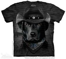 "BLACK LAB ""COWBOY LAB"" ADULT T-SHIRT THE MOUNTAIN ----IN STOCK!!"