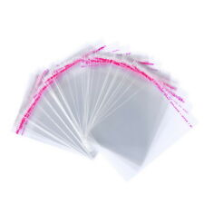 Wholesale Lots Clear Self Adhesive Seal Plastic Bags 14x8cm Usable 11x8cm