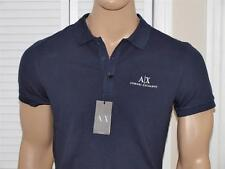 Armani Exchange A|X Signature Polo Shirt Navy NWT