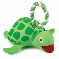 Grriggles Neoprene Floating Dog Pet Toy With Tug Rope Turtle or Dolphin