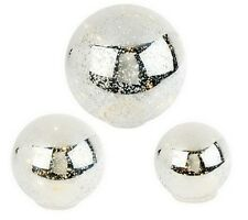 3-piece Lit Mercury Glass Spheres with Timer by Valerie  H196638 PAINT DEFECTS