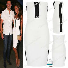Onorevoli Celeb michkeegan MONO contrasto Boobtube donne Bodycon Cocktail Mini Dress