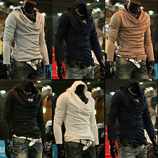 Spring New Korean Men's Casual Fashion Heap Collar Sweater Coat Slim  Hot Top
