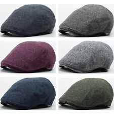New Men Ivy Flat Cap Two-ton Napping Cotton Newsboy Hat Gatsby Golf Visor N151