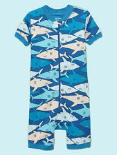 NEW GAP SHARK ROMPER SLEEPER SIZE 3-6-12-18M