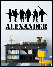 Personalized Custom name Military Army Soldiers wall decal home decor sticker