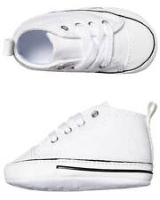 New Converse Girls Baby First Star Crib Shoe Canvas Shoes White