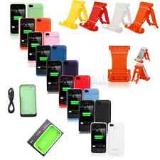 1900mAh External Backup Battery Rechargeable Charger Case Cover for iPhone 4 4S