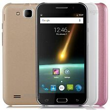 "5"" Quad Core 8GB 8MP GPS Dual Sim Android 4.4 Smartphone 3G Cell Phone Unlocked"