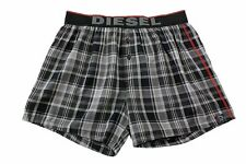 Diesel Men's Cotton UMBX-Luv Black Plaid Boxer Underwear