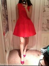 NWT AUTH Red Valentino Red Fit and Flare Sleeveless Dress $825 2014 FALL