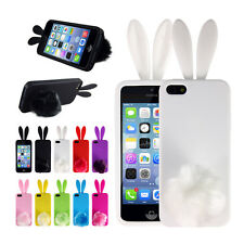 Candy TPU Rubber Back Protector Cover Case Skin Bunny Rabbit for iPhone 4 4s