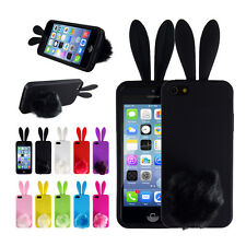 Bunny Rabbit Candy TPU Rubber Back Protector Cover Case Skin for iPhone 5 5S