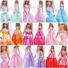 New Fashion Long Evening Dress Handmade Gown for Barbie Doll Outfit Girl gift B