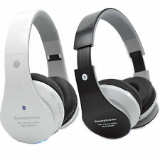 Bluetooth Stereo Headset + FM+ TF Card +AUX For Cell Phone iPhone Samsung LG HTC