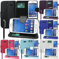 ETUI COQUE HOUSSES PORTEFEUILLE CUIR SUPPORT VIDEO SAMSUNG GALAXY TREND LITE