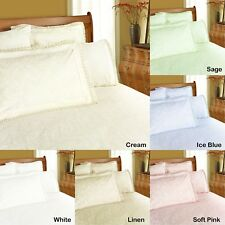 Broderie Anglaise Lace Damask Quilt Doona Duvet Cover Set - DOUBLE QUEEN KING