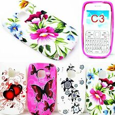 Flower Phone Shell Protective Soft Rubber Silicone Gel Case Cover For Nokia C3