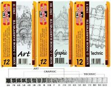 Koh-I-Noor Graphite Drawing Pencils - Set of 12 - Art, Graphic or Technic grades