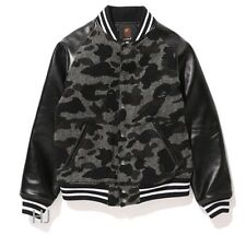 A BATHING APE MEN'S Mr. BATHING APE 1ST CAMO TWEED VARSITY JACKET From Japan New