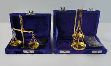 APOTHECARY SCALES IN VELVET CASE - CHOICE OF TWO SIZES 5gr OR 10 gr- NEW & BOXED