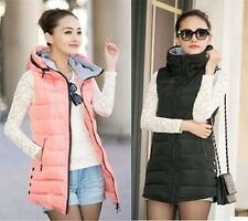 Winter 2014 Women long section down cotton vest hooded vest jacket
