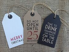 Vintage Christmas Present Label Tags Shabby Chic Xmas Gift Wrap East of India