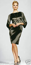 SIZE 10 - 12 KALEIDOSCOPE KHAKI SATIN COCKTAIL DRESS RRP £69