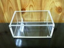 Clear Acrylic Perspex Lidless Open Storage Box Stand Display Container Case Jar