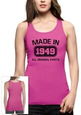 Made in 1949 Women Tank Top 65th Birthday Funny Gift Idea Present All Original