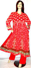 New Pakistani Designer Red Wedding Shalwar Kameez Salwar Indian Sari Abaya Hijab