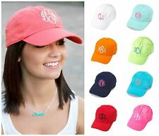 Womens BASEBALL CAP Twill Easter Hat Visor PERSONALIZED Monogram Embroidered