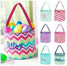 EASTER BUCKET Tote Bag PERSONALIZED Monogram Baby Basket Diaper Caddy Boy Girl