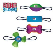 Kong Pull & Squeak Dog & Puppy Toy - Four Fun Designs - Tug Fetch - Medium/Large