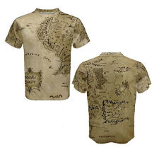 The Hobbits Lord Of The Ring Middle Earth Maps Full All Over Print 3D T-Shirt