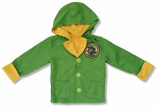 BOB MARLEY RASTAMAN GREEN BUTTON UP HOODIE SWEATSHIRT NEW OFFICIAL KIDS YOUTH